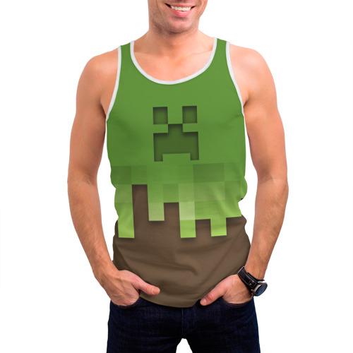 Мужская майка 3D  Фото 03, Minecraft edition