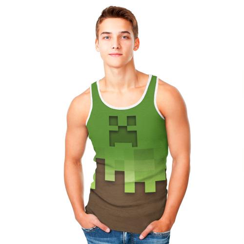 Мужская майка 3D  Фото 05, Minecraft edition