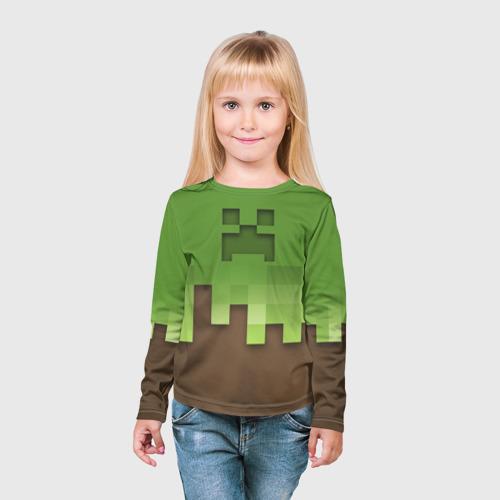 Детский лонгслив 3D  Фото 03, Minecraft edition