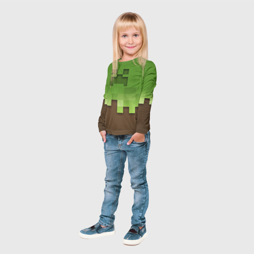 Детский лонгслив 3D  Фото 04, Minecraft edition