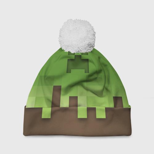 Шапка 3D c помпоном  Фото 01, Minecraft edition