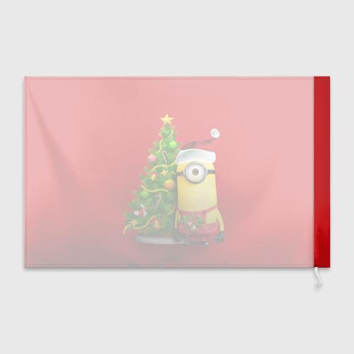 Флаг 3D Ёлка и миньон Фото 01