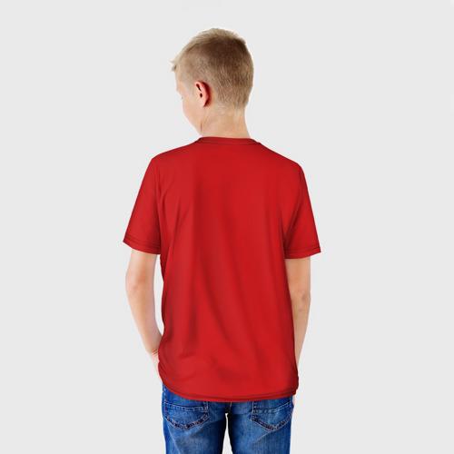 Детская футболка 3D  Фото 02, Ёлка и миньон