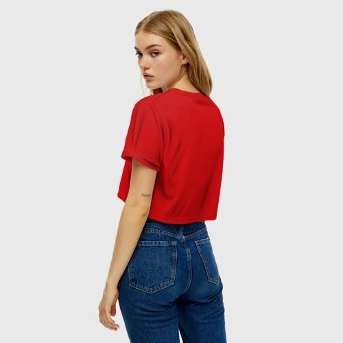 Женская футболка Cropp-top Ёлка и миньон Фото 01