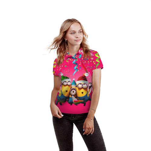 Женская рубашка поло 3D  Фото 03, Праздник