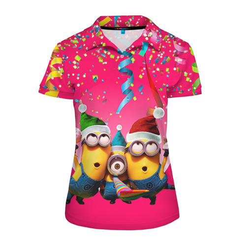Женская рубашка поло 3D  Фото 01, Праздник