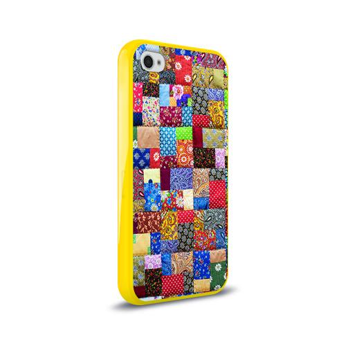Чехол для Apple iPhone 4/4S силиконовый глянцевый  Фото 02, Лоскутное шитьё