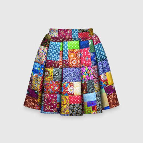 Детская юбка-солнце 3D Лоскутное шитьё