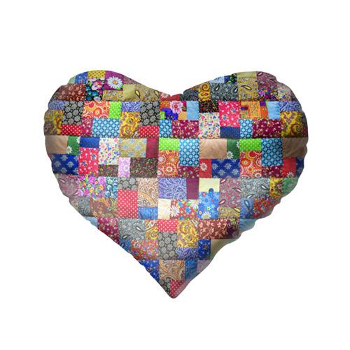 Подушка 3D сердце  Фото 02, Лоскутное шитьё