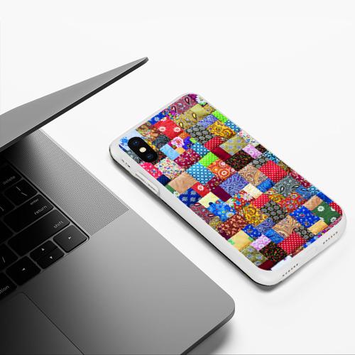 Чехол для iPhone XS Max матовый Лоскутное шитьё Фото 01