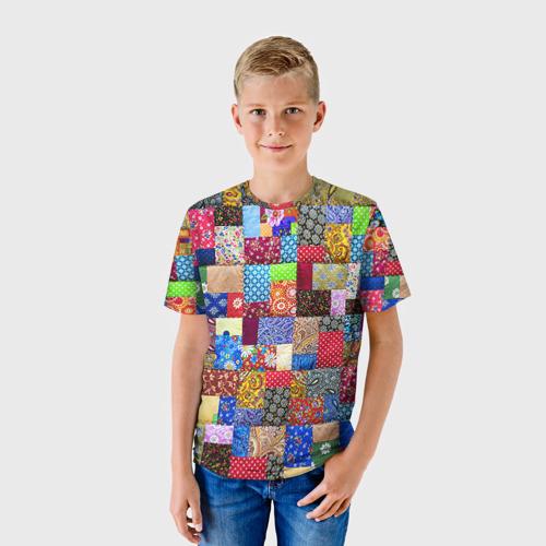 Детская футболка 3D  Фото 01, Лоскутное шитьё