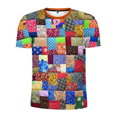 Мужская футболка 3D спортивная Лоскутное шитьё