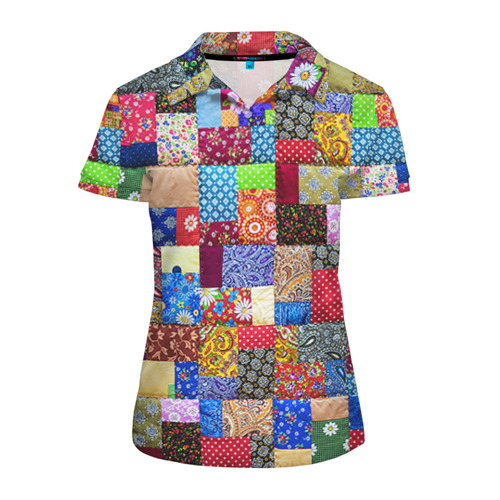 Женская рубашка поло 3D Лоскутное шитьё