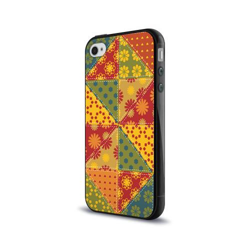 Чехол для Apple iPhone 4/4S силиконовый глянцевый  Фото 03, Лоскутное шитьё