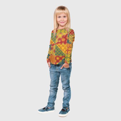 Детский лонгслив 3D  Фото 04, Лоскутное шитьё