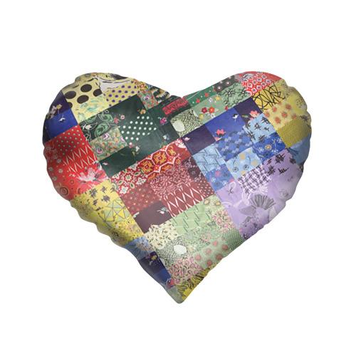 Подушка 3D сердце  Фото 01, Лоскутное шитьё