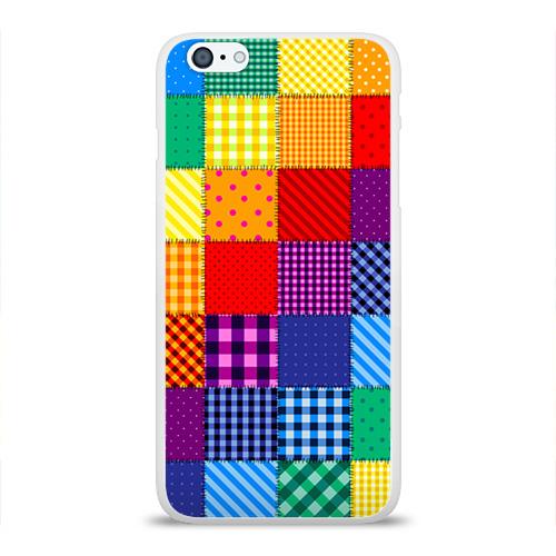 Чехол для Apple iPhone 6Plus/6SPlus силиконовый глянцевый  Фото 01, Лоскутное шитьё