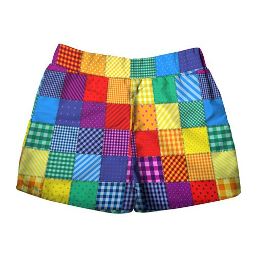 Женские шорты 3D Лоскутное шитьё Фото 01