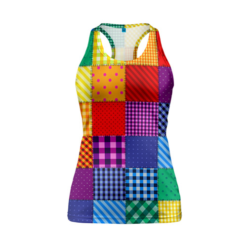 Женская майка 3D спортивная Лоскутное шитьё