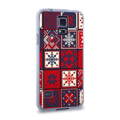 Чехол для Samsung Galaxy S5 силиконовый  Фото 02, Лоскутное шитьё