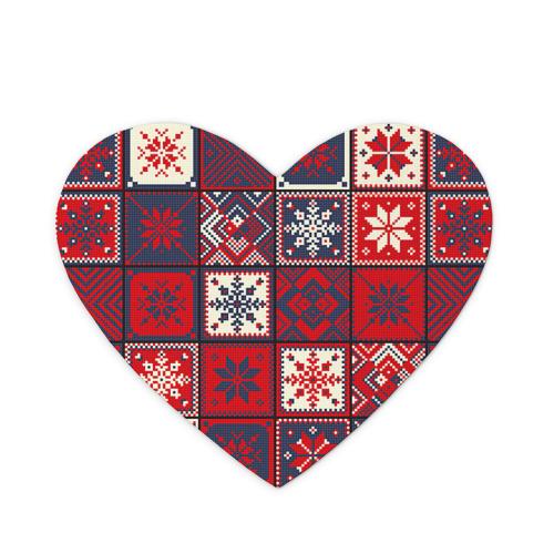 Коврик сердце  Фото 01, Лоскутное шитьё