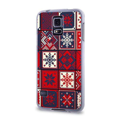 Чехол для Samsung Galaxy S5 силиконовый  Фото 03, Лоскутное шитьё