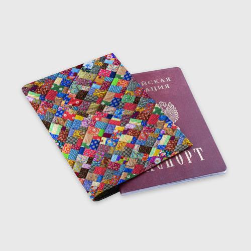 Обложка для паспорта матовая кожа  Фото 03, Лоскутное шитьё