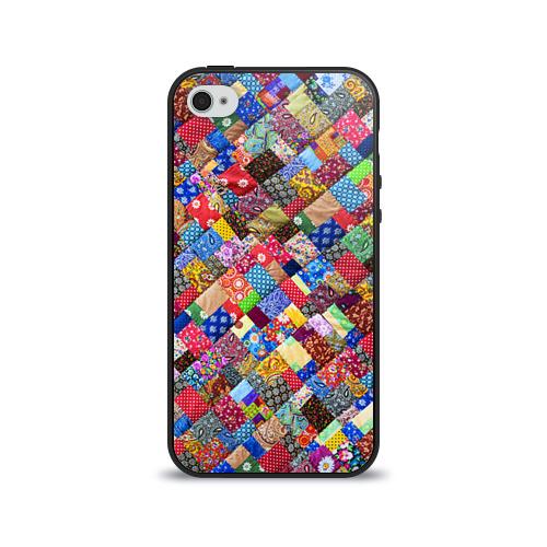 Чехол для Apple iPhone 4/4S силиконовый глянцевый  Фото 01, Лоскутное шитьё