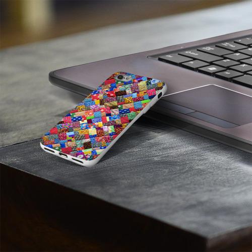 Чехол для Apple iPhone 8 силиконовый глянцевый  Фото 03, Лоскутное шитьё