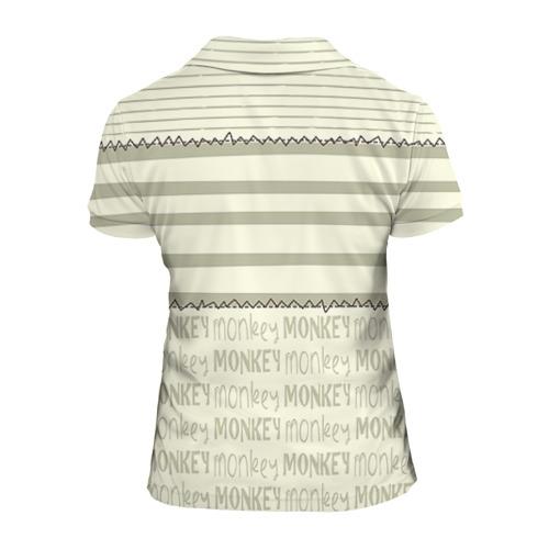 Женская рубашка поло 3D  Фото 02, Обезьянка