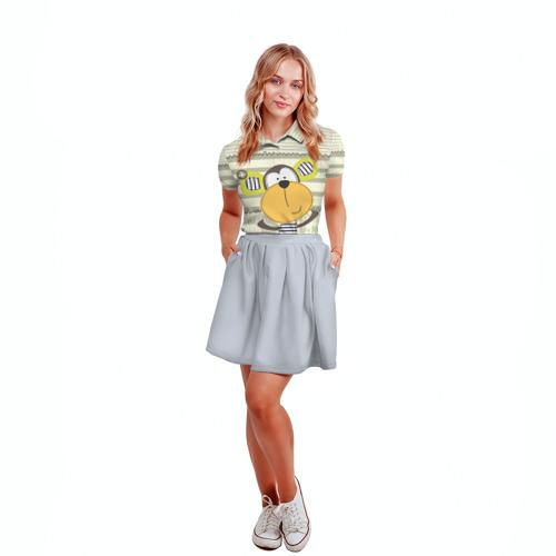 Женская рубашка поло 3D  Фото 04, Обезьянка