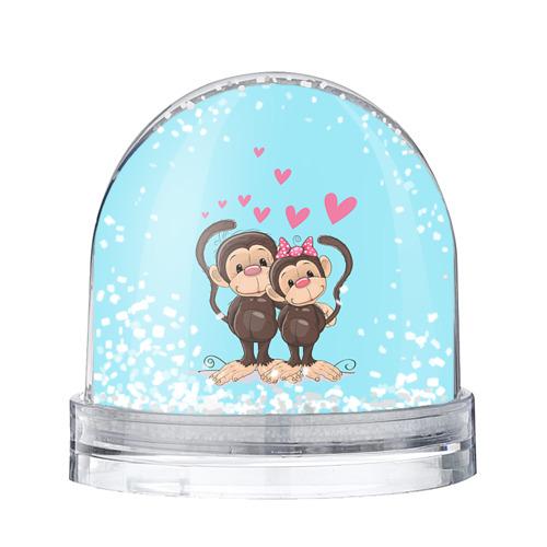 Водяной шар со снегом Обезьянки