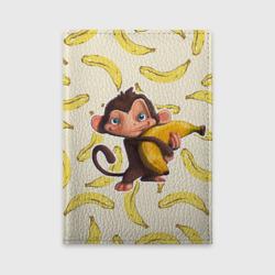 Обложка для автодокументовОбезьяна с бананом