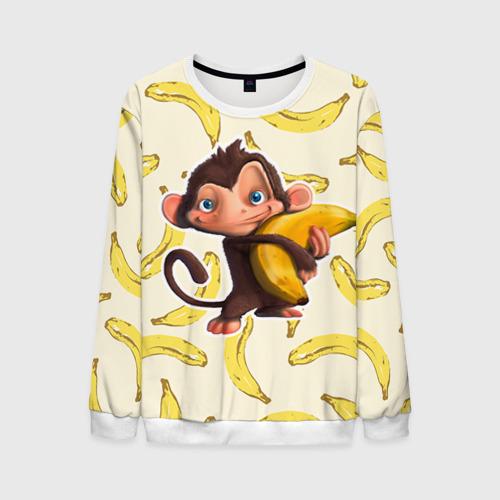 Мужской свитшот 3D Обезьяна с бананом от Всемайки