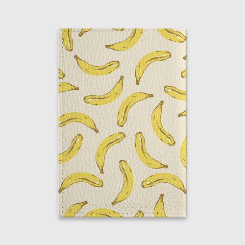 Обложка для паспорта матовая кожа  Фото 02, Обезьяна с бананом