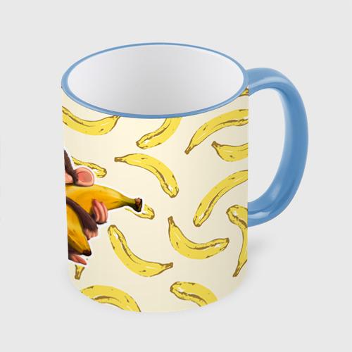 Кружка с полной запечаткой  Фото 01, Обезьяна с бананом