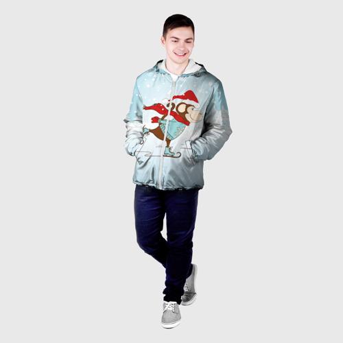 Мужская куртка 3D  Фото 03, Обезьяна на коньках