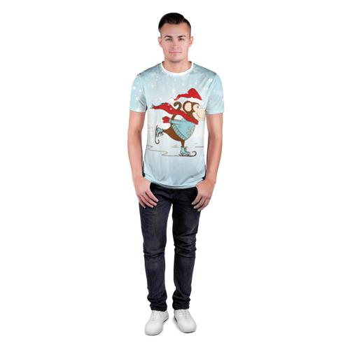 Мужская футболка 3D спортивная  Фото 04, Обезьяна на коньках
