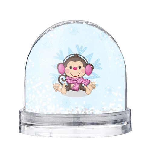 Водяной шар со снегом Обезьянка