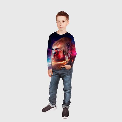 Детский лонгслив 3D  Фото 05, Обезьяна в космосе