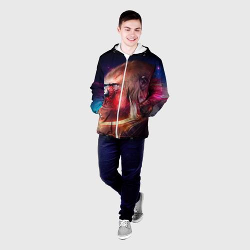 Мужская куртка 3D  Фото 03, Обезьяна в космосе