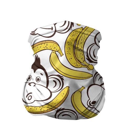 Бандана-труба 3D Обезьянки и бананы