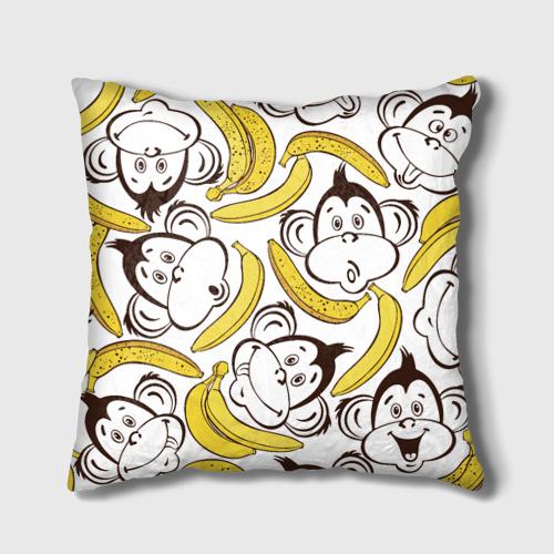 Подушка 3D  Фото 02, Обезьянки и бананы