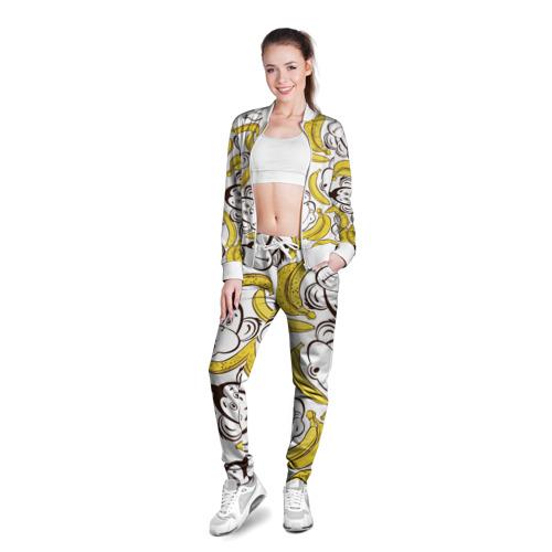 Женская олимпийка 3D  Фото 03, Обезьянки и бананы