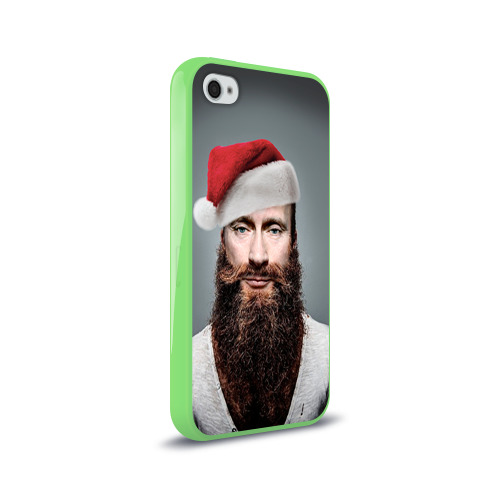 Чехол для Apple iPhone 4/4S силиконовый глянцевый  Фото 02, Путин бородач