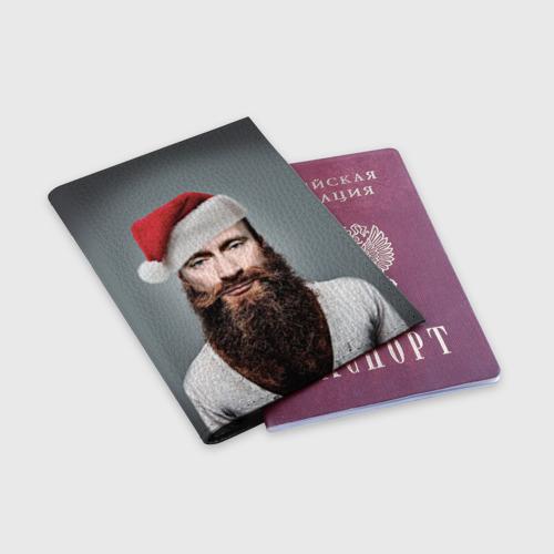 Обложка для паспорта матовая кожа  Фото 03, Путин бородач