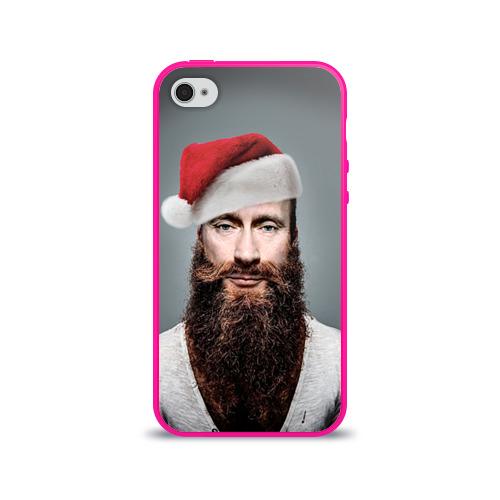 Чехол для Apple iPhone 4/4S силиконовый глянцевый Путин бородач