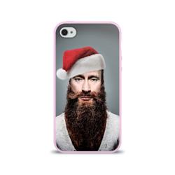Чехол для Apple iPhone 4/4S силиконовый глянцевыйПутин бородач