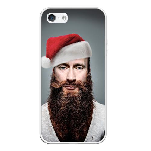 Чехол для Apple iPhone 5/5S силиконовый Путин бородач