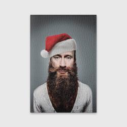 Обложка для паспорта матовая кожаПутин бородач